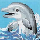 Алмазная мозаика Кристалл на дер.осн. BZ022 «Дельфин»