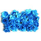 Декор MH1-T010  цветы (уп. 24 шт.) Е15 т.-синий