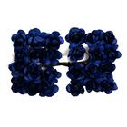 Декор MH1-T010  цветы (уп. 24 шт.) Е17 черно-синий