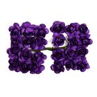Декор MH1-T010  цветы (уп. 24 шт.) Е18 т.-фиолетовый