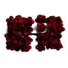 Декор MH1-T010  цветы (уп. 24 шт.) Е20 красный