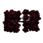 Декор MH1-T010  цветы (уп. 24 шт.) Е21 красное вино