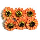 Декор MH3-2313 «Цветы» уп.6 шт оранжевый 7715382