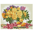 Алмазная мозаика Кристалл на дер.осн. GZ001 «Желтые розы»