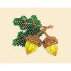 Набор для бисероплетения Риолис Б177 Брошь «Желуди» 4,5*5 см
