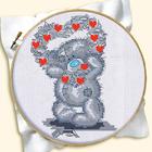Набор для вышивания Русская сказка ДН-016 «Мишка» 12*16 см