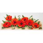 Набор для вышивания ANCOR PCE722 «Россыпь маков» 18*47 см