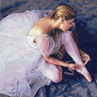 Набор для вышивания Dimensions 35181 «Прекрасная балерина» 36*36 см в интернет-магазине Швейпрофи.рф