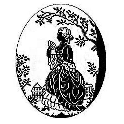 Набор для вышивания Eva Rosenstand 12-375 «Дама с веером» 20*25 см в интернет-магазине Швейпрофи.рф