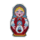 Набор для вышивания HP Kids П-0001 «Матрешка» 7,5*13 см