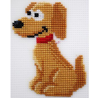 Набор для вышивания HP Kids П-0008 «Добрый пес» 10*13 см в интернет-магазине Швейпрофи.рф