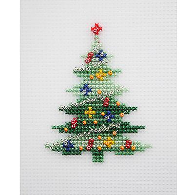 Набор для вышивания HP Kids П-0017 «Елка» 7,5*9,5 см в интернет-магазине Швейпрофи.рф