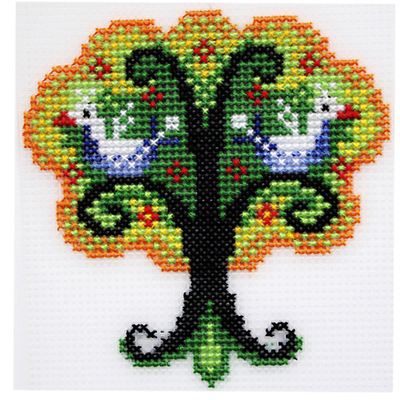 Набор для вышивания HP Kids П-0025 «Чудо-дерево» 12*12,5 см в интернет-магазине Швейпрофи.рф