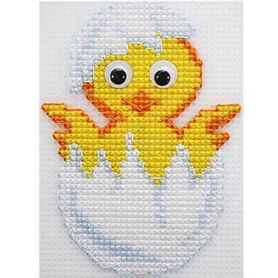 Набор для вышивания HP Kids П-0026 «Цыпленок» 9*12 см в интернет-магазине Швейпрофи.рф