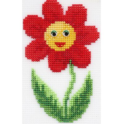 Набор для вышивания HP Kids П-0039 «Цветочек» 8,5*13,5 см в интернет-магазине Швейпрофи.рф
