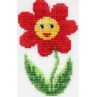Набор для вышивания HP Kids П-0039 «Цветочек» 8,5*13,5 см