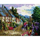 Алмазная мозаика Кристалл на дер.осн. GZ027 «Городская улочка»