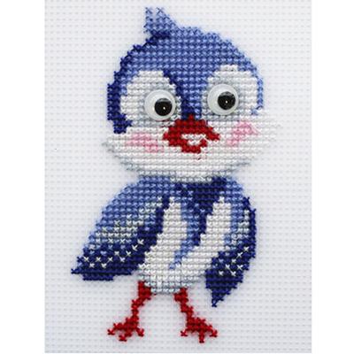 Набор для вышивания HP Kids П-0049 «Птичка-невеличка» 9,5*13, 5 см в интернет-магазине Швейпрофи.рф
