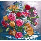 Набор для вышивания HP №616 «Лилии и пионы» 33,5*33 см