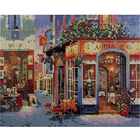 Алмазная мозаика Кристалл на дер.осн. GZ034 «Уличное кафе»
