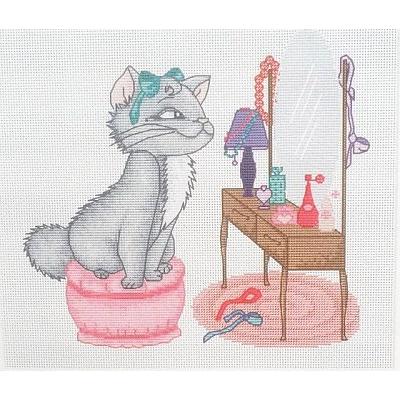 Набор для вышивания Luca-S В1035 «Кошка у туалетного столика» в интернет-магазине Швейпрофи.рф