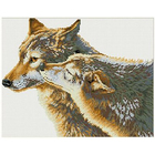 Алмазная мозаика Кристалл на дер.осн. GZ036 «Поцелуй волка»