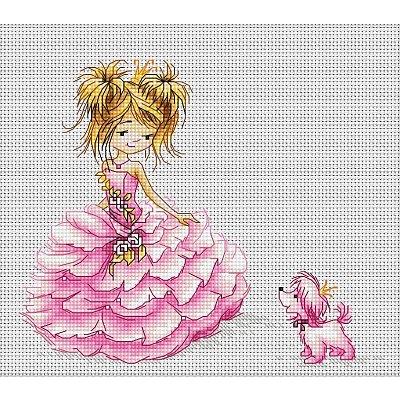 Набор для вышивания Luca-S В1056 «Принцесса» 16*13,5 см в интернет-магазине Швейпрофи.рф