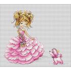 Набор для вышивания Luca-S В1056 «Принцесса» 16*13,5 см