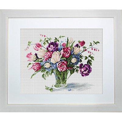 Набор для вышивания Luca-S В2261 «Тюльпаны» 33,5*26 см в интернет-магазине Швейпрофи.рф