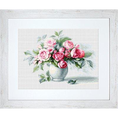 Набор для вышивания Luca-S В2280 «Этюд с чайными розами» 35,5*26 см в интернет-магазине Швейпрофи.рф