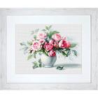 Набор для вышивания Luca-S В2280 «Этюд с чайными розами» 35,5*26 см