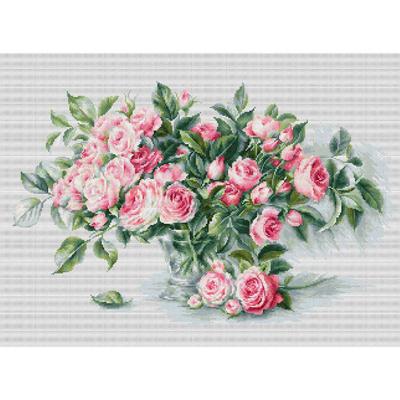 Набор для вышивания Luca-S В2286 «Букет чайных роз» 43,5*28 см в интернет-магазине Швейпрофи.рф