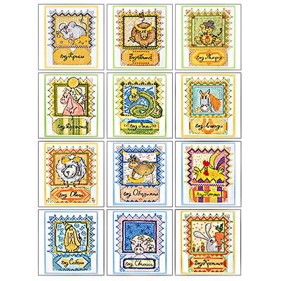 Набор для вышивания Panna ВГ-0862 Открытка «Год Кролика» 9*11 см в интернет-магазине Швейпрофи.рф