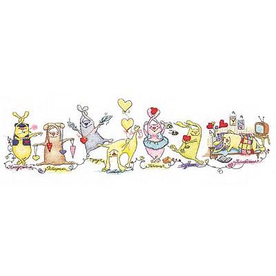 Набор для вышивания Panna ВК-1131 «Неделя влюбленного зайца» 60*20 см в интернет-магазине Швейпрофи.рф