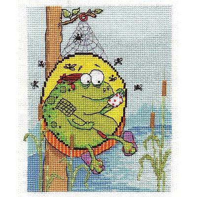 Набор для вышивания Panna ВК-1281 «Жаб на отдыхе» 16*19 см в интернет-магазине Швейпрофи.рф