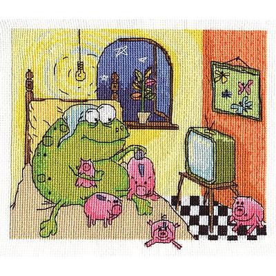 Набор для вышивания Panna ВК-1283 «Жаб дома» 20*17 см в интернет-магазине Швейпрофи.рф