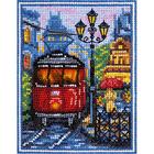 Набор для вышивания Panna ГМ-1780 «Пражский трамвайчик» 11*14,5 см