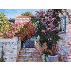 Набор для вышивания Panna ЖК-2005 «Греческий дворик» 33,5*25 см