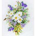 Набор для вышивания Panna ЖК-2012 «Ромашки и колокольчики» 19,5*25 см