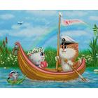Набор для вышивания Panna ЖК-2041 «В лодочке» 25*20 см