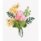 Набор для вышивания Panna ЖК-2141 «Букетик роз» 8*6,5 см
