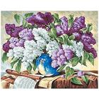 Алмазная мозаика Кристалл на дер.осн. GZ294 «Сирень в вазе»