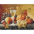 Набор для вышивания Panna Н-1234 «Натюрморт с вином и фруктами» 32*24,5 см