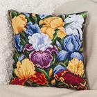 Набор для вышивания Panna ПД-1633 Подушка «Радужные ирисы» 30*30 см