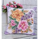 Набор для вышивания Panna ПД-1694 Подушка «Распустились цветы» 40,5*40,5 см