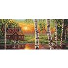 Набор для вышивания Panna ПС-1226 «Журавли на закате» 38,5*18 см