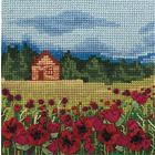 Набор для вышивания Panna ПС-1244 «Маковое поле» 12*12 см