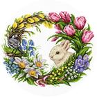 Набор для вышивания Panna ПС-1787 «Весенний венок» 28*28 см