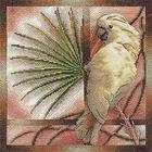Набор для вышивания Panna ПТ-0693 «Белый попугай» 25*25 см
