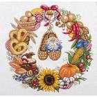 Набор для вышивания Panna СО-1578 «Венок изобилия» 32*32 см